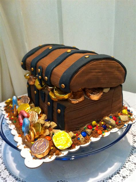 treasure chest cakes decoration ideas  birthday
