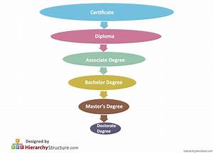 Education Degree Hierarchy Chart   Hierarchystructure.com