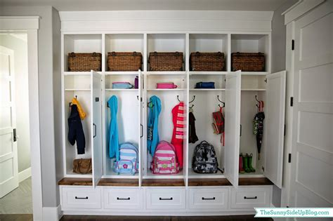 lockers for home my new organized mudroom the side up