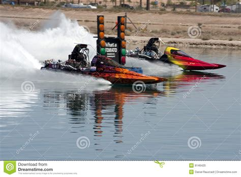 Drag Boat Racing Start by Ihba Hydroplane Boat Race Duel In The Desert Editorial