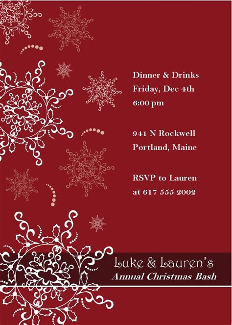 free printable christmas invitations template 16 best images about invitation templates on