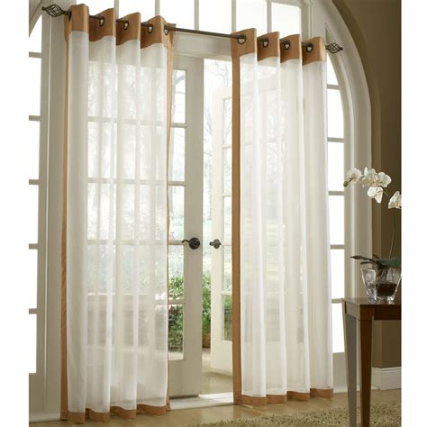sheer curtain panels with grommets soho tailored sheer grommet curtain panels
