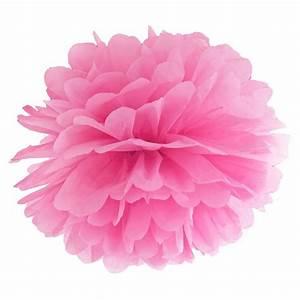 Fleur En Papier De Soie : pompon fleur papier en soie suspendre rose holly party ~ Nature-et-papiers.com Idées de Décoration