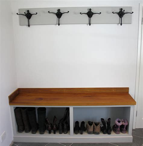 Fitted bookcases, room boot bench boot rack bench
