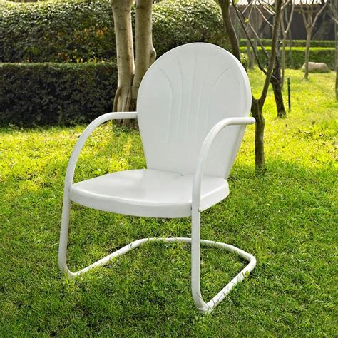 shop crosley furniture griffith white steel patio