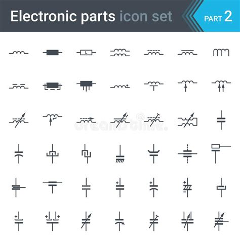 Circuit Diagram Xml by Electric And Electronic Circuit Diagram Symbols Set Of