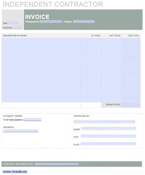 independent contractor invoice dascoopinfo