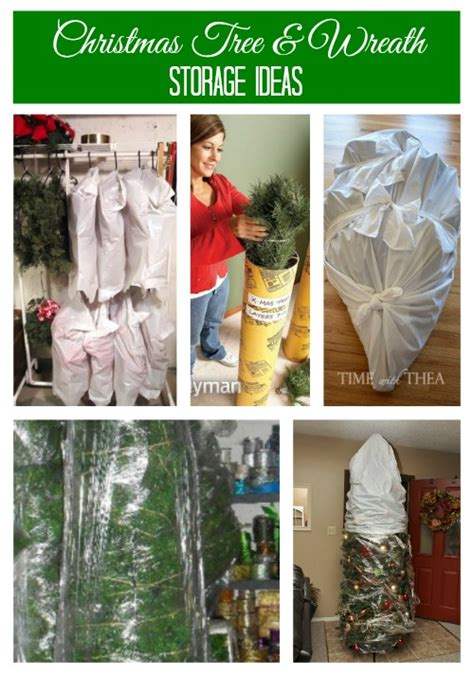 Saran Wrap Christmas Tree For Storage by Holiday Decoration Storage Ideas Amp Tips
