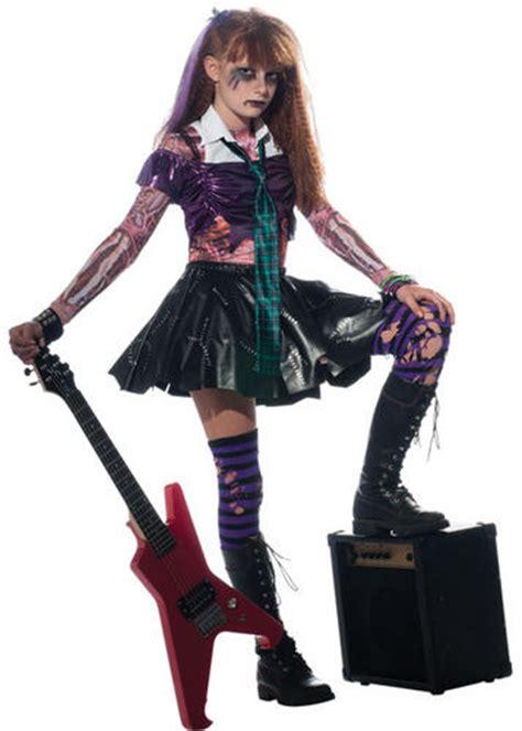 Zombie Girls Punk Rock Halloween Fancy Dress Kids Child Zombet Costume Outfit   eBay
