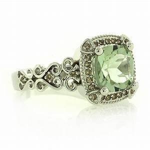 genuine green amethyst diamonds silver ring silverbestbuy With green amethyst wedding ring