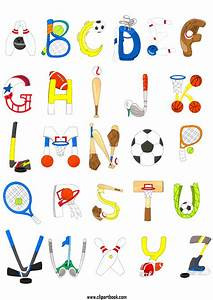 image gallery sports alphabet With sports alphabet letters