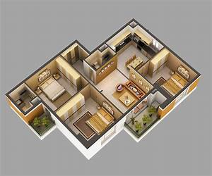 3d, Model, Home, Interior, Fully, Furnished