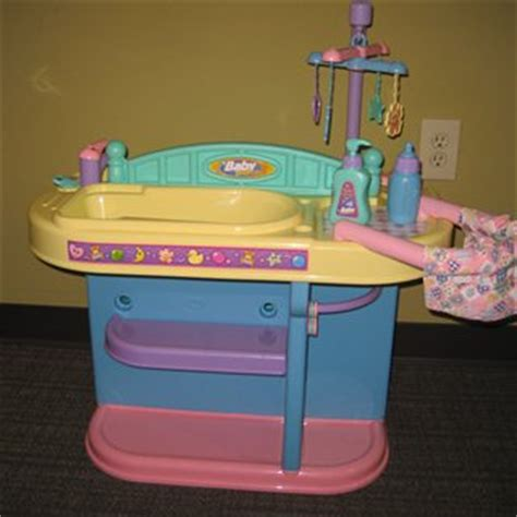 doll changing table station baby basics baby doll changing station