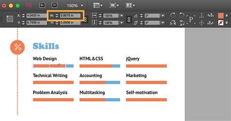 create a professional resume adobe indesign cc tutorials