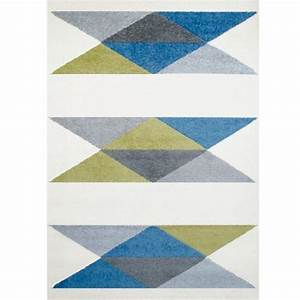 tapis enfant geometric bleu vert gris art for kids ma With tapis vert enfant