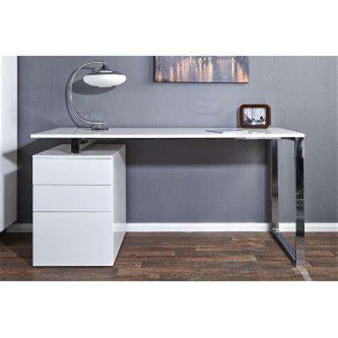 bureau compact design bureau design blanc laque avec rangement compact