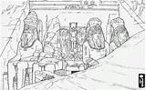 Drawing Ramses Temple Ii Coloring Abu Simbel Temples Egypt Ancient Pages Shoehorn Drawings Sketch Timeline Nubia Bc Template Afkomstig Oncoloring sketch template