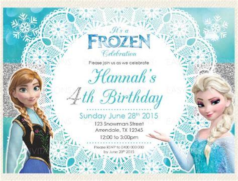 frozen birthday invitation psd ai vector eps