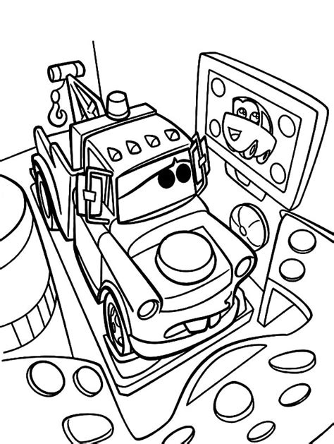 mater coloring pages lightning mcqueen and tow mater coloring pages color