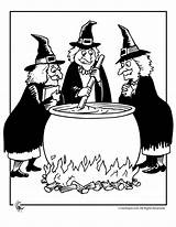 Witch Halloween Witches Cauldron Coloring Pages Printable Template Google Cooking Brujas Wizards Templates Silhouettes sketch template