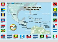 Map of Flags Central America + the Caribbean Theme Maps
