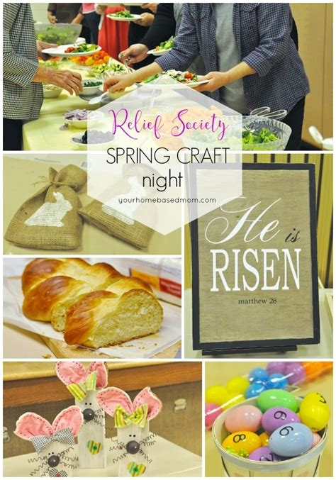 relief society spring craft night  homebased mom