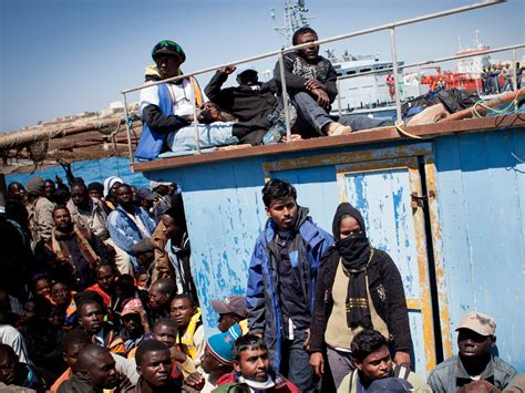 How Long From Libya To Italy By Boat by Libyan Immigrants Flock To Italy The New York Times