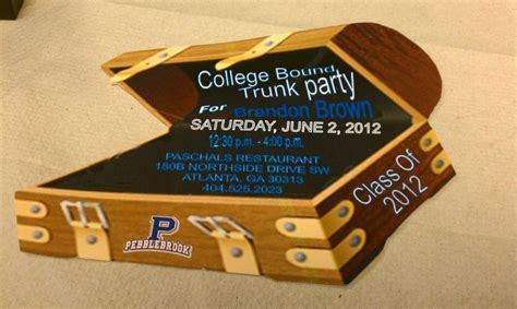 College bound trunk party invitation' (prissypeoples