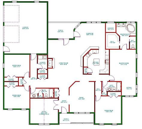 house plans single single open floor plans plan single level one