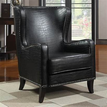 Chair Leather Accent Coaster Sofa Furniture Outlet