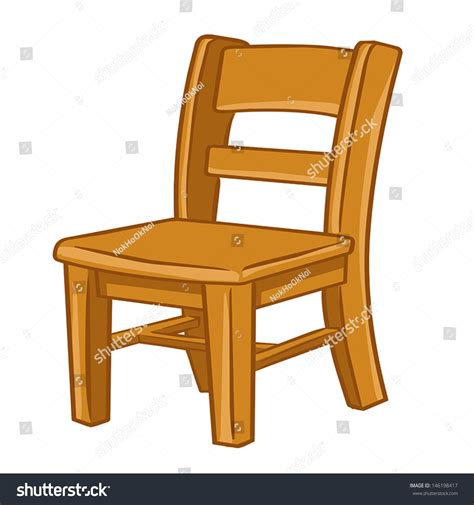 Wood Chair Isolated Illustration On White Stock Vector
