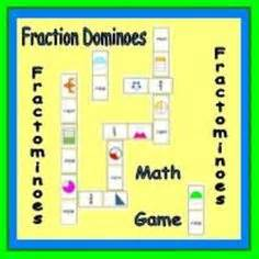 fraction games printables  ideas images