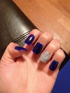 Royal blue nails and some sparkle* | P R O M | Pinterest