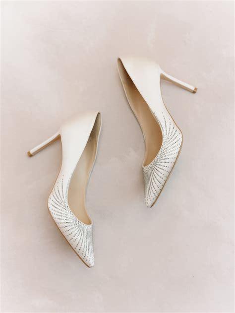 Elegant Champagne Gold Wedding High Heels Closed Toe