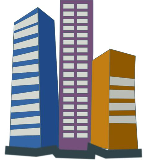 Building Clipart by Real Estate High Rise Buildings Clip At Clker