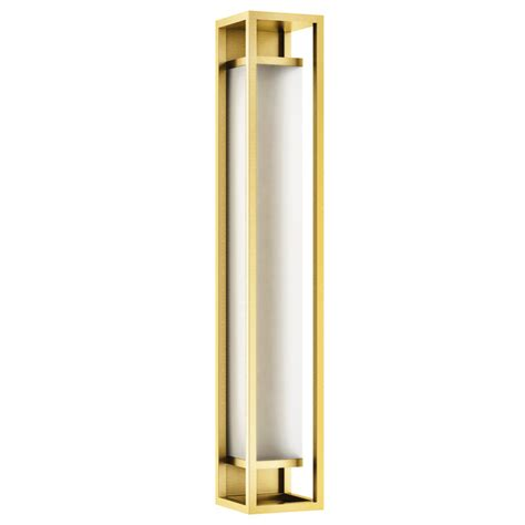 ip44 led satin brass wall light with acrylic diffuser r