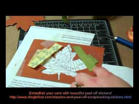 iris folded maple leaf card youtube