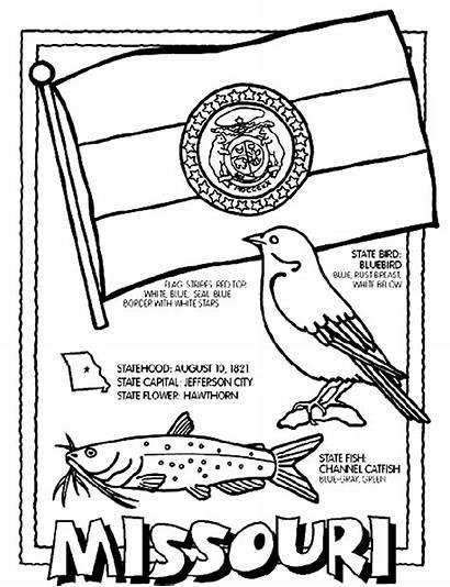 Missouri Coloring Crayola State Flag Oregon Kansas