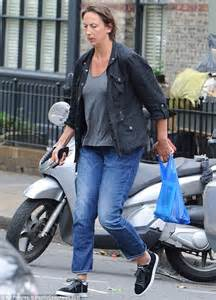 blue wedding miranda hart shows new slimmed figure as she