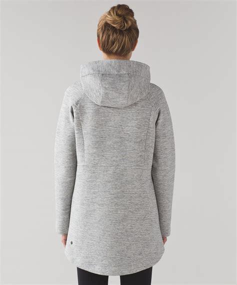 print hooded zip jacket lululemon going places hooded jacket heathered space