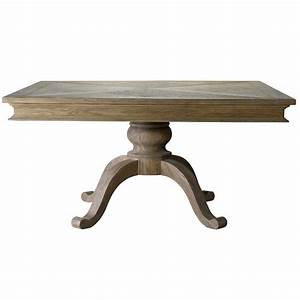 Geneva Oak Wood Square Pedestal Dining Table 47quot Zin Home