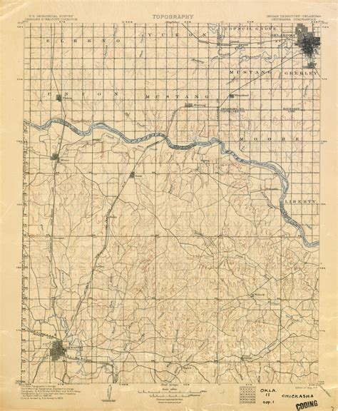 oklahoma historical topographic maps perry castaneda map