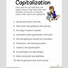 Practice Capitalization  Home Ed!  English Grammar Worksheets, First Grade Worksheets, Grammar