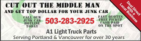 light truck parts portland oregon cash for cars 503 360 1989 free towing sell junk