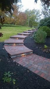 Lighted, Paver, Walkway