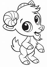 Goat Coloring Printable Categories sketch template