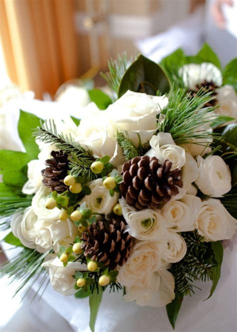 picture  beautiful winter wedding bouquets