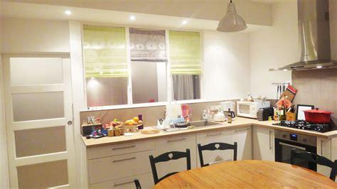 cuisine plus nantes rénovation cuisine aménagée avec verrière séparative renoveo