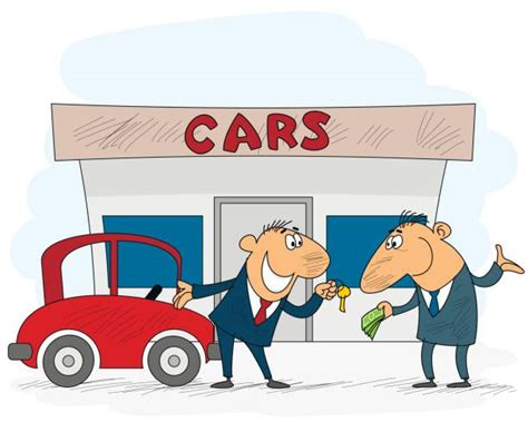 Royalty Free Used Car Dealer Clip Art, Vector Images