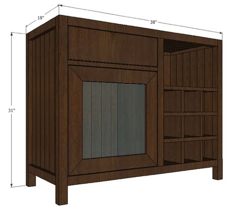woodwork cabinet bar plans  plans